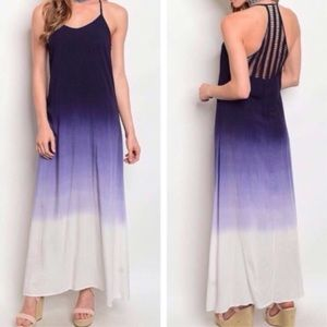 Navy Ombré Maxi Dress